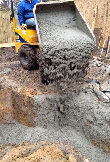 ready mix concrete for foundation